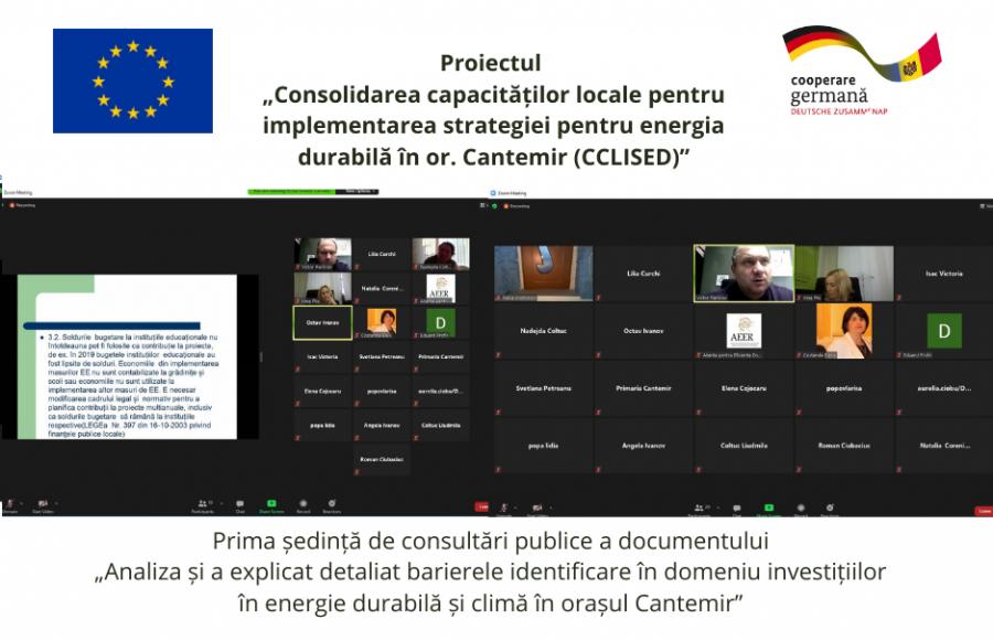 UE / Societatea civilă din orașul Cantemir în continuare își consolidează capacitățile de participare și implicarea în procesele decizionale din domeniul energetic la nivel local.